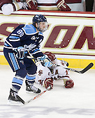 "Gustav Nyquist (Maine - 89) was a member of the ""Hobey Hat Trick"" last season. - The Boston College Eagles defeated the visiting University of Maine Black Bears 4-0 on Friday, November 19, 2010, at Conte Forum in Chestnut Hill, Massachusetts."
