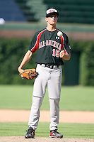 August 18 2008:  Jake Eliopoulos (15) of the Baseball Factory team during the 2008 Under Armour All-American Game at Wrigley Field in Chicago, IL.  Photo by:  Mike Janes/Four Seam Images