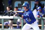 13 February 2015: Seton Hall's Zack Weigel squares to bunt. The University of North Carolina Tar Heels played the Seton Hall University Pirates in an NCAA Division I Men's baseball game at Boshamer Stadium in Chapel Hill, North Carolina. UNC won the game 7-1.