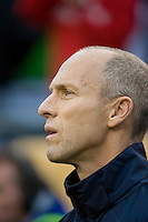 Bob Bradley. The USA defeated Honduras, 2-1, in a World Cup qualifying match at Soldier Field in Chicago, IL on June 6, 2009.