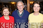 Enjoying the night out at the Official Launch of  the Causeway Fleadh Cheoil held in Yallop's An Tocher Inn on Saturday night were l/r Mary Yallop, John Lyons and Kay Carmody.