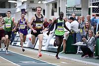 WINSTON-SALEM, NC - FEBRUARY 08: Willy Fink #10 just edges Edward Cheserek #13, 3:59.79 to 3:59.84, to win the Men's Camel City Elite Mile at JDL Fast Track on February 08, 2020 in Winston-Salem, North Carolina.