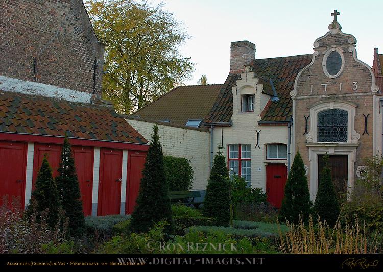 Godshuis de Vos Almshouse, Noordstraat, Bruges, Brugge, Belgium