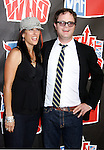 Writer Holiday Reinhorn and actor Rainn Wilson arrive at the 2008 VH1 Rock Honors: The Who at Pauley Pavilion on the UCLA Campus on July 12, 2008 in Westwood, California. California.