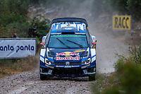 LATVALA Jari-Matti / ANTTILA Miikka  (Volkswagen Polo R WRC)during the World Rally Car RACC Catalunya Costa Dourada 2016 / Rally Spain, in Catalunya, Spain. October 15, 2016. (ALTERPHOTOS/Rodrigo Jimenez) NORTEPHOTO.COM