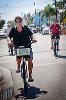 Bicyling along Duval Street, Key West, Florida, USA, Feb. 22, 2011. Photo by Debi Pittman Wilkey