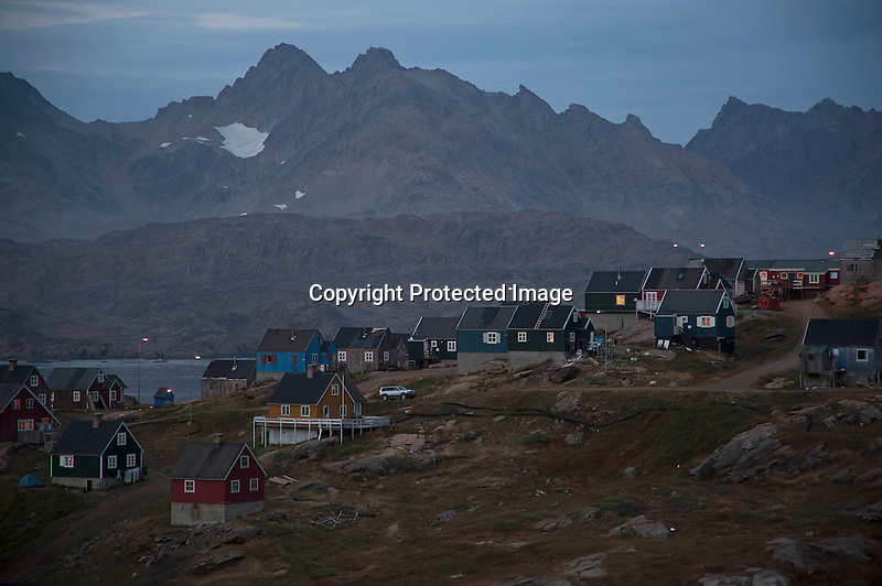 Evening Lights Tasiilaq Greenland