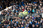 St Johnstone v Aberdeen&hellip;15.04.17     SPFL    McDiarmid Park<br />Officers from Police Scotland on duty in the East stand<br />Picture by Graeme Hart.<br />Copyright Perthshire Picture Agency<br />Tel: 01738 623350  Mobile: 07990 594431