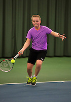 Rotterdam, The Netherlands, 07.03.2014. NOJK ,National Indoor Juniors Championships of 2014, 12and 16 years, Daan Hendriks (NED)<br /> Photo:Tennisimages/Henk Koster