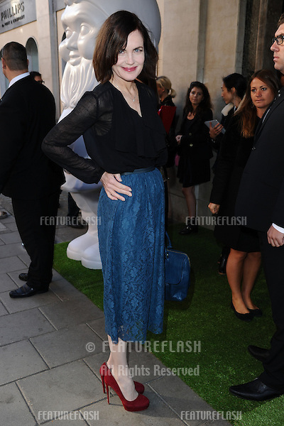 Elizabeth McGovern arrives at the Mulberry catwalk show as part of London Fashion Week SS13, Claridges, London. 18/09/2012 Picture by: Steve Vas / Featureflash