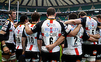 Photo: Richard Lane/Richard Lane Photography. London Wasps v Bath Rugby. The St. George's Day Game. Guinness Premiership. 24/04/2010. Wasps huddle.