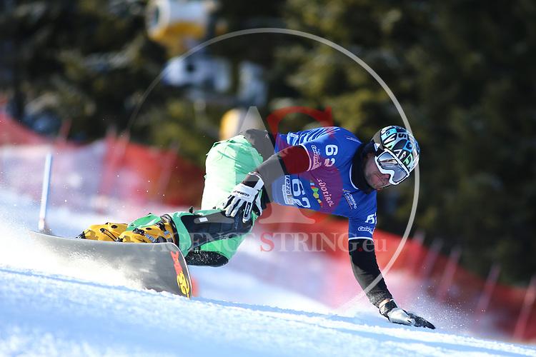 SNOWBOARD WORLD CUP 2018 FIS in Carezza, on December 14, 2017; Parallel Giant Slalom; Viktor Bruzek (CZE)