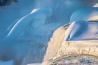 Niagara Falls in winter, Niagara Falls State Park, New York, American Falls