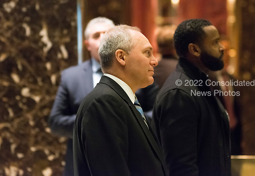 United States House Majority Whip Steve Scalise (Republican of Louisiana) is seen in the lobby of Trump Tower in New York, NY, USA upon his arrival on December 12, 2016. <br /> Credit: Albin Lohr-Jones / Pool via CNP
