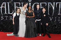 Vivienne Jolie-Pitt, Angelina Jolie, Zahara Jolie-Pitt, Shiloh Jolie-Pitt and Knox Leon Jolie-Pitt attend the European Premiere of Maleficent: Mistress of Evil at the BFI IMAX Waterloo in London.<br /> <br /> OCTOBER 9th 2019<br /> <br /> REF: RHD 193636 Credit: Matrix/MediaPunch ***FOR USA ONLY****