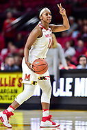 College Park, MD - NOV 21, 2017: Maryland Terrapins guard Ieshia Small (1) calls out an offensive play during game between the Howard Lady Bison and the Maryland Terrapins at the XFINITY Center in College Park, MD.  (Photo by Phil Peters/Media Images International)