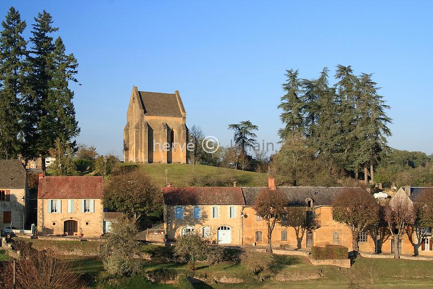 France, Aquitaine, Dordogne (24), Saint-Geniès, chapelle du Cheylard // France, Aquitaine, Dordogne , Saint-Geniès, chapel of Cheylard