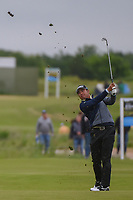 Hideki Matsuyama (JPN) hits his approach shot on 16 during round 2 of the AT&T Byron Nelson, Trinity Forest Golf Club, Dallas, Texas, USA. 5/10/2019.<br /> Picture: Golffile | Ken Murray<br /> <br /> <br /> All photo usage must carry mandatory copyright credit (© Golffile | Ken Murray)