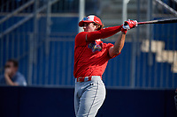 Dylan Crews (25) during the Under Armour All-America Game Practice, powered by Baseball Factory, on July 21, 2019 at Les Miller Field in Chicago, Illinois.  Dylan Crews attends Lake Mary High School in Longwood, Florida and is committed to LSU.  (Mike Janes/Four Seam Images)