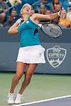 Vera Zvonareva (RUS) loses to Maria Sharapova (RUS)at the Western and Southern Financial Group Masters Series in Cincinnati on August 20, 2011.   Sharapova won, 2-6, 6-3,6-3.