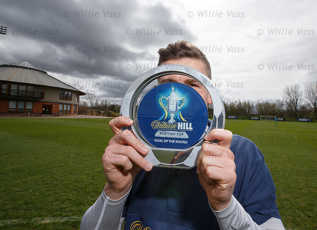 Fraser Aird with his Scottish Cup goal of the round award