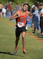 Nov 14, 2015; Claremont, CA, USA; Austin Sankaran of Occidental runs during the 2015 NCAA Division III West Regionals cross country championships at Pomona-Pitzer College. (Freelance photo by Kirby Lee)