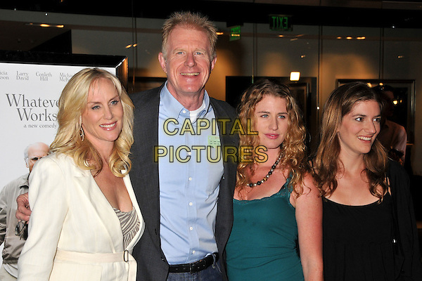 "RACHELLE CARSON, ED BEGLEY JR. & family.""Whatever Works"" Los Angeles Premiere held at the Pacific Design Center, West Hollywood, CA, USA..June 8th, 2009.half length white black blue green top shirt jacket married husband wife kids children.CAP/ADM/BP.©Byron Purvis/AdMedia/Capital Pictures."