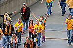 LONDON, ENGLAND - MAY 12: Newport County Fans arrive for the FA Carlsberg Trophy Final between York City and Newport County at Wembley Stadium on May 12, 2012 in London, England. (Photo by Dave Horn - Extreme Aperture Photography)
