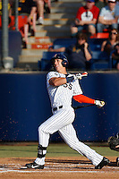 Michael Lorenzen #55 of the Cal State Fullerton Titans bats against the UC Irvine Anteaters at Goodwin Field on May 18, 2013 in Fullerton, California. Fullerton defeated UC Irvine, 3-2. (Larry Goren/Four Seam Images)