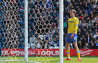 Leeds United's Patrick Bamford regrets a missed chance<br /> <br /> Photographer Mick Walker/CameraSport<br /> <br /> The EFL Sky Bet Championship - Birmingham City v Leeds United - Saturday 6th April 2019 - St Andrew's - Birmingham<br /> <br /> World Copyright © 2019 CameraSport. All rights reserved. 43 Linden Ave. Countesthorpe. Leicester. England. LE8 5PG - Tel: +44 (0) 116 277 4147 - admin@camerasport.com - www.camerasport.com