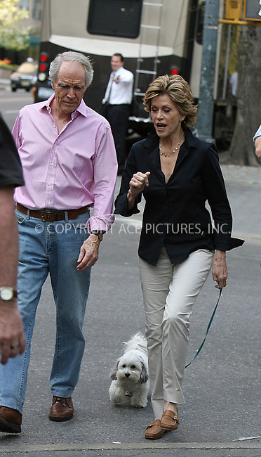 WWW.ACEPIXS.COM ** ** ** ....April 23 2008, New York City....Actress Jane Fonda was on the Upper West Side of Manhattan to shoot a commercial for L'Oreal.....Please byline: Philip Vaughan -- ACEPIXS.COM.. *** ***  ..Ace Pictures, Inc:  ..tel: (646) 769 0430..e-mail: info@acepixs.com..web: http://www.acepixs.com