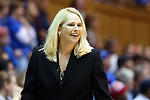 11 February 2013: Maryland head coach Brenda Frese. The Duke University Blue Devils played the University of Maryland Terrapins at Cameron Indoor Stadium in Durham, North Carolina in an NCAA Division I Women's Basketball game. Duke won the game 71-56.