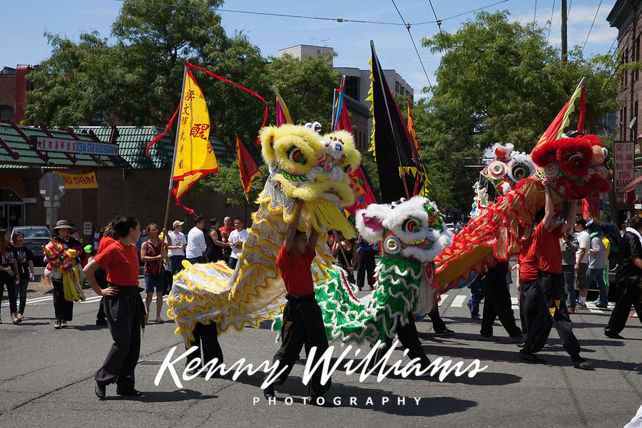 Dragon Fest 2015, Chinatown, Seattle, Washington State, WA, America, USA.
