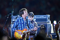 John Fogerty performs at half time of the game with the Denver Broncos at Arrowhead Stadium in Kansas City, Missouri on November 23, 2006. The Chiefs won 19-10.