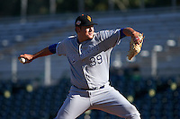Surprise Saguaros pitcher Andrew Edwards (39) delivers a pitch during an Arizona Fall League game against the Scottsdale Scorpions on October 22, 2015 at Scottsdale Stadium in Scottsdale, Arizona.  Surprise defeated Scottsdale 7-6.  (Mike Janes/Four Seam Images)