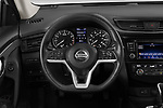 Car pictures of steering wheel view of a 2019 Nissan Rogue SV 5 Door SUV