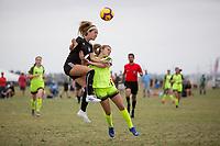 Oceanside, CA - June 23, 2019: U.S. Soccer Development Academy Girl's Showcase at the SoCal Sports Complex.