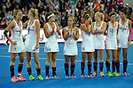 ENG - London, England, August 30: During the prize giving ceremony on August 30, 2015 at Lee Valley Hockey and Tennis Centre, Queen Elizabeth Olympic Park in London, England.  (Photo by Dirk Markgraf / www.265-images.com) *** Local caption ***