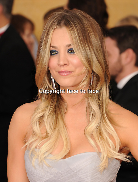 LOS ANGELES, CA- JANUARY 18: Actress Kaley Cuoco arrives at the 20th Annual Screen Actors Guild Awards at The Shrine Auditorium on January 18, 2014 in Los Angeles, California.<br /> Credit: Mayer/face to face<br /> - No Rights for USA, Canada and France -