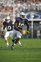 15 September 2012:  Penn State DE Deion Barnes (18)..The Penn State Nittany Lions defeated the Navy Midshipmen 34-7 at Beaver Stadium in State College, PA..