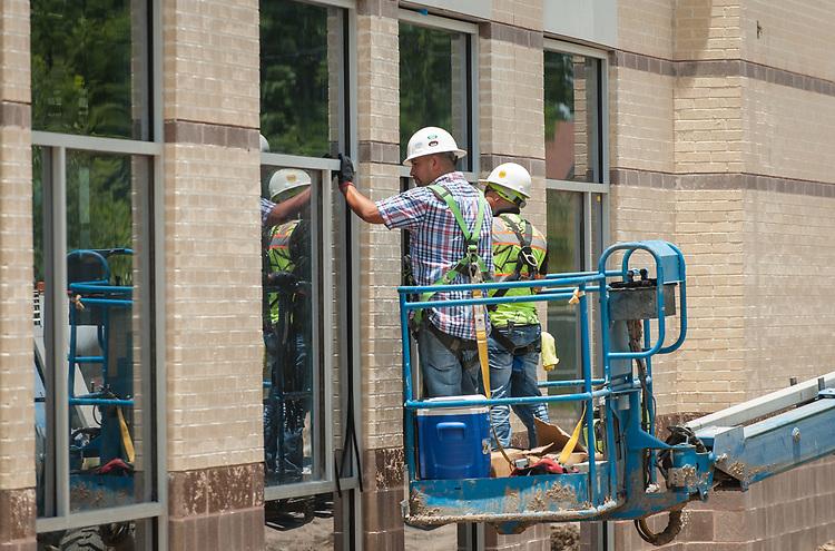 Construction at Washington High School, June 20, 2017.