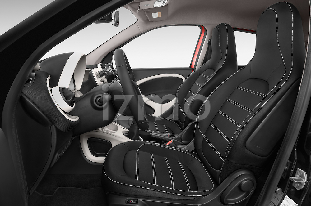 Front seat view of a 2015 Smart FORFOUR Prime 5 Door Micro Car Front Seat car photos