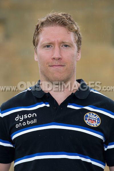 Bazz Barrett poses for a portrait at a Bath Rugby photocall. Bath Rugby Media Day on August 28, 2014 at Farleigh House in Bath, England. Photo by: Rogan Thomson for Onside Images
