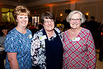 WATERBURY,  CT-051619JS26- Nancy Lodge, Katherin Sniffin, Principal at Children's Community School, and Theresa Bolduc, at the Children's Community School's annual dinner and 50th anniversary celebration at La Bella Vista in Waterbury. <br /> Jim Shannon Republican American