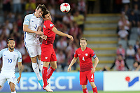 Przemyslaw Frankowski of Poland and Ben Chilwell of England during England Under-21 vs Poland Under-21, UEFA European Under-21 Championship Football at The Kolporter Arena on 22nd June 2017