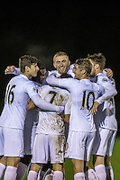 Monday  19 December 2014<br /> Pictured: Oliver McBernie of Swansea City Celebrates his goal with teammates<br /> Re: Swansea City U23 v Middlesbrough u23 at the Landore Training Facility, Swansea, Wales, UK