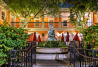 Fountain courtyard at Jane's Cafe, Naples, Florida, USA.