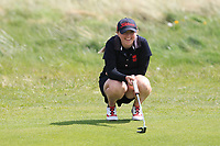 Ryan Jordan (WAL) on the 8th green during Round 3 of the Irish Women's Open Stroke Play Championship 2018 on Sunday 13th May 2018.<br />