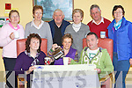 St Joesph's day care centre Rathmore presents the Kerry branch of the Irish Cancer Society a cheque of EUR2,300 which they raised by holding a coffee morning in the centre front row l-r: Eileen O'Donoghue, Breda McAulliffe, Eugene O'Sullivan. Back row: Mary Ryan, Rose O'Brien, Andrew Murphy, Joan Doherty, Tim Moriarty and Grace Crowley