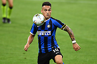Lautaro Martinez of FC Internazionale in action during the Serie A football match between FC Internazionale and UC Sampdoria at Stadio San Siro in Milano ( Italy ), June 21th, 2020. Play resumes behind closed doors following the outbreak of the coronavirus disease. <br /> Photo Image/Insidefoto